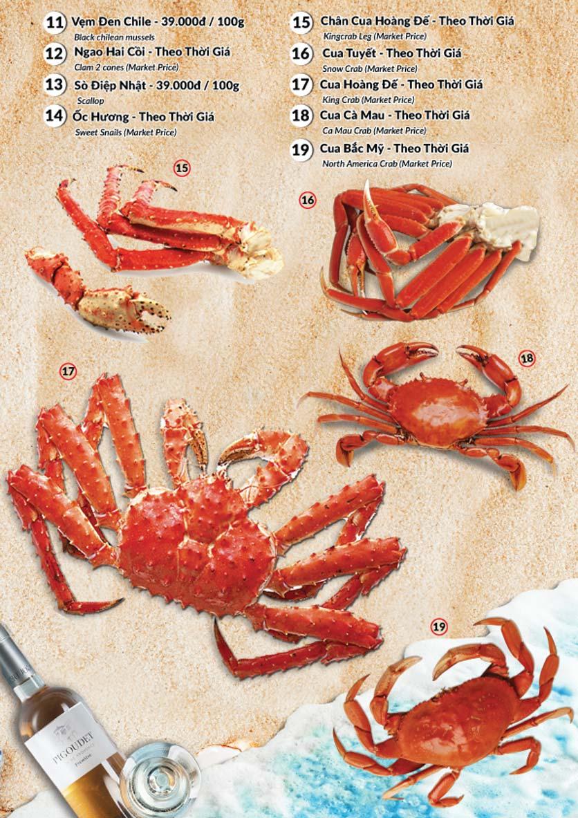 Menu Lobster Bay – Nhà hàng hải sản kiểu Mỹ – Nguyễn Tri Phương 22