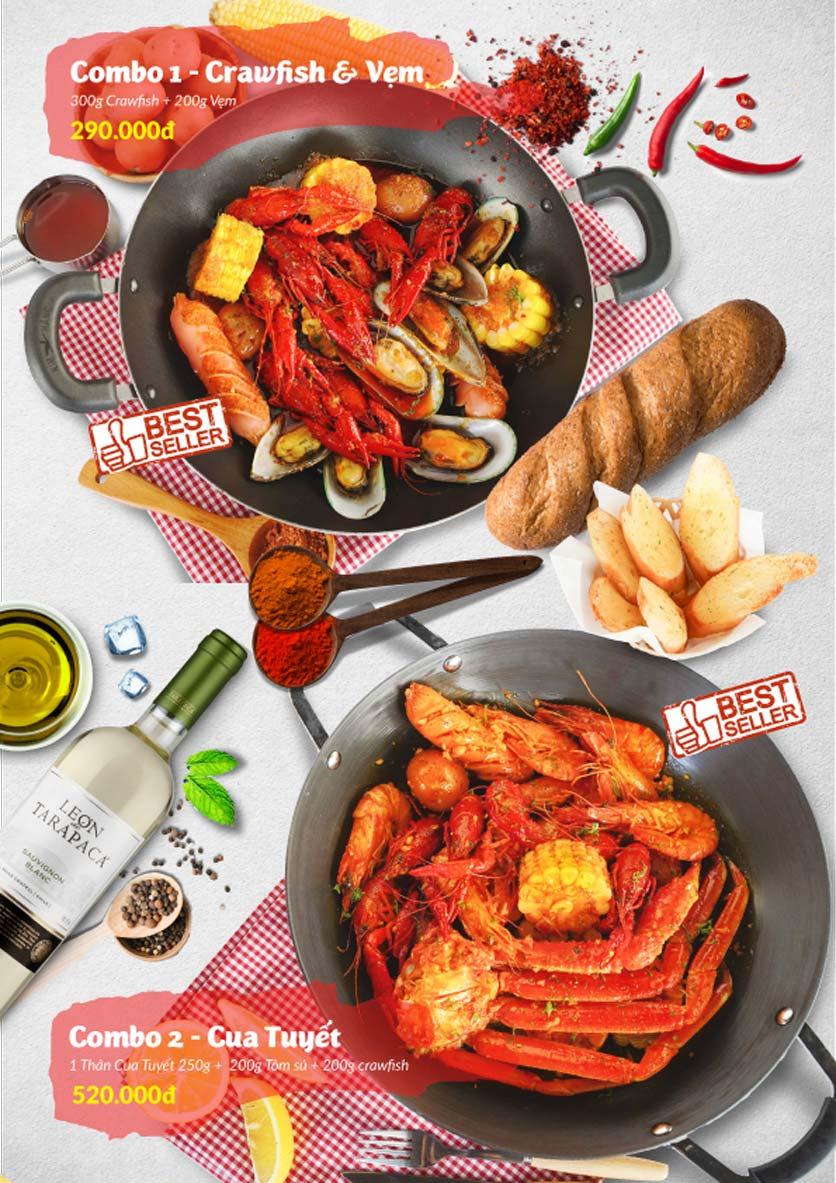 Menu Lobster Bay - Nhà Hàng Hải Sản Kiểu Mỹ - Kỳ Đồng 22