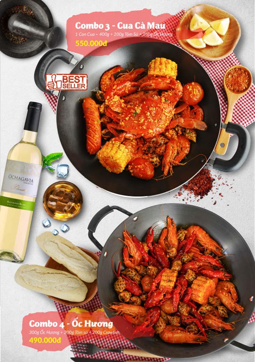 Menu Lobster Bay – Nhà hàng hải sản kiểu Mỹ – Nguyễn Tri Phương 24