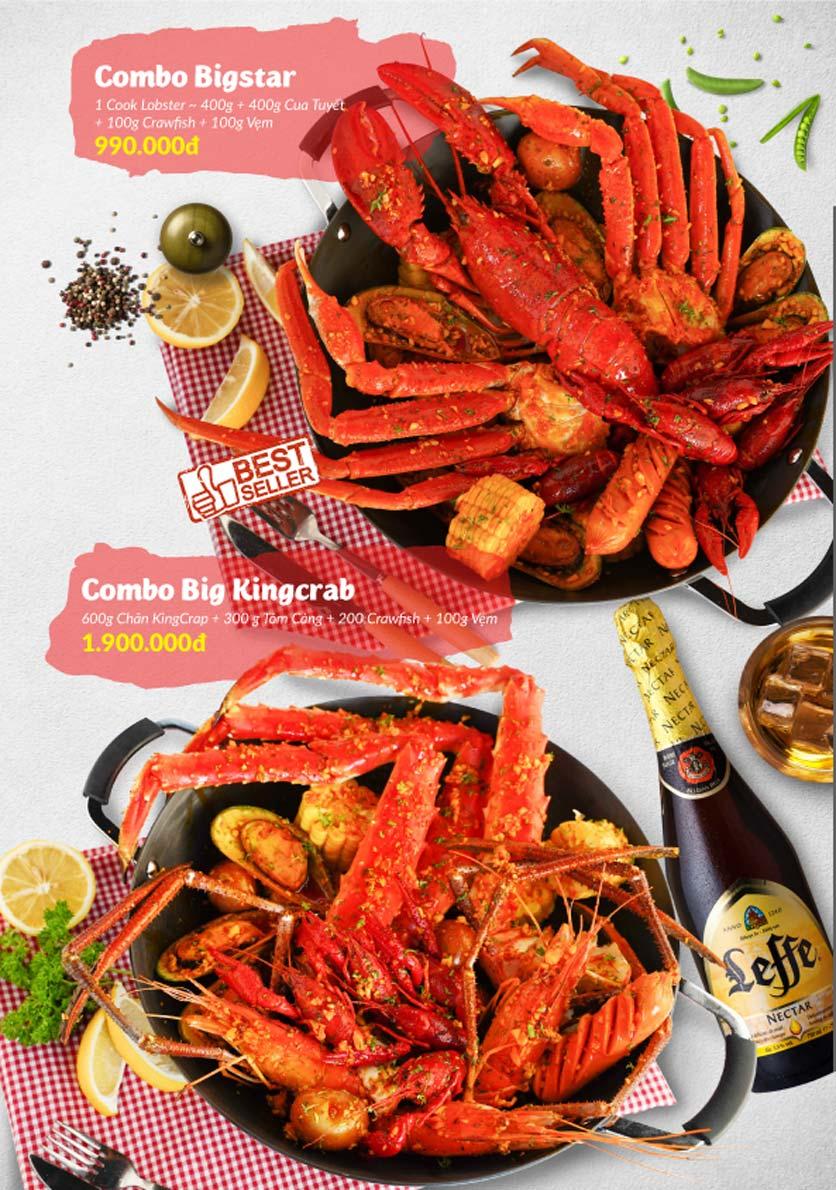 Menu Lobster Bay - Nhà Hàng Hải Sản Kiểu Mỹ - Kỳ Đồng 25