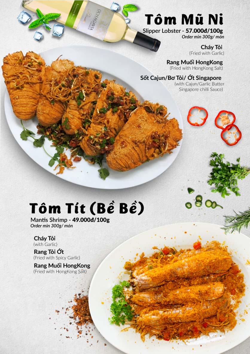 Menu Lobster Bay – Nhà hàng hải sản kiểu Mỹ – Nguyễn Tri Phương 39