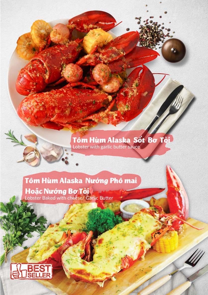 Menu Lobster Bay - Nhà Hàng Hải Sản Kiểu Mỹ - Kỳ Đồng 4