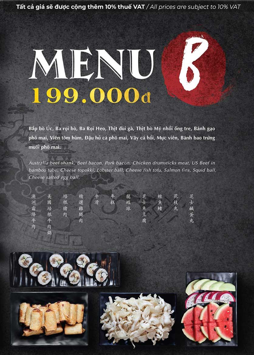 Menu Buffet Lẩu Lok Lok - Sư Vạn Hạnh 2