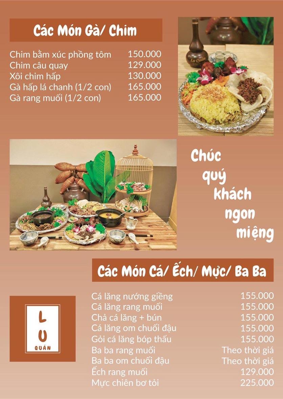 Menu Lu Quán - Đại Cồ Việt 4