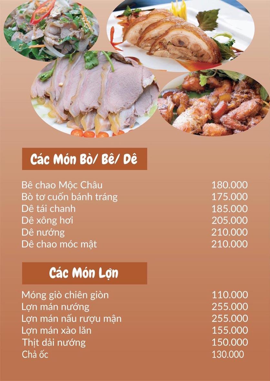 Menu Lu Quán - Đại Cồ Việt 7