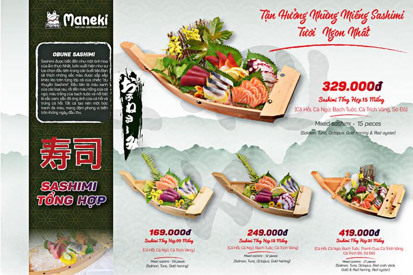 Menu Maneki Neko Deli - Vincom Đồng Khởi 2