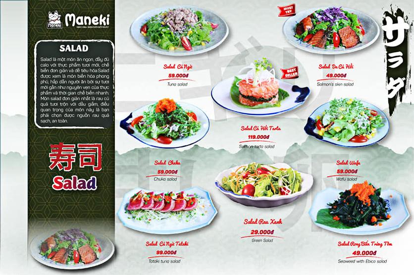 Menu Maneki Neko Deli - Vincom Đồng Khởi 5