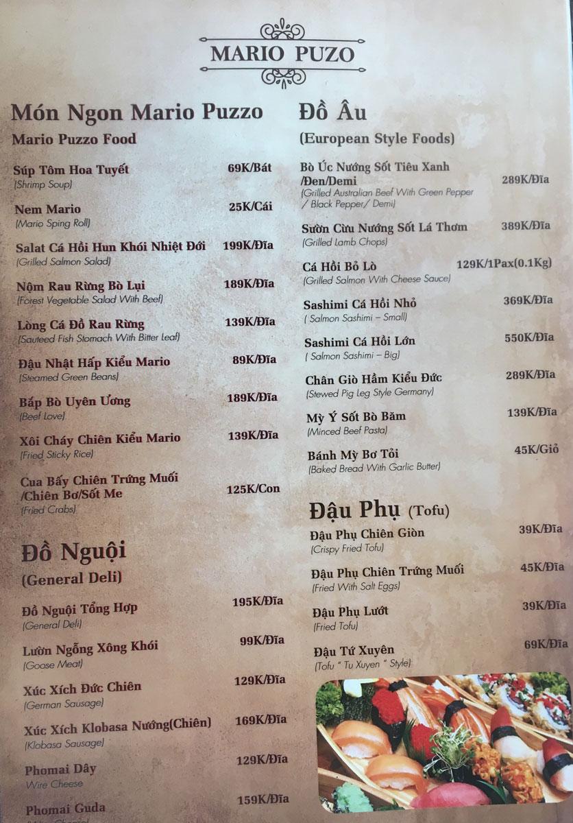 Menu Thùy Trang Restaurant – KBT 5.2 ha Yên Hòa 12