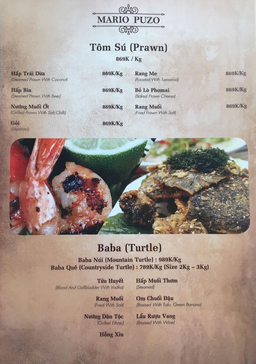 Menu Thùy Trang Restaurant – KBT 5.2 ha Yên Hòa 4