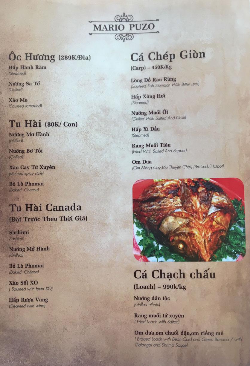 Menu Thùy Trang Restaurant – KBT 5.2 ha Yên Hòa 7