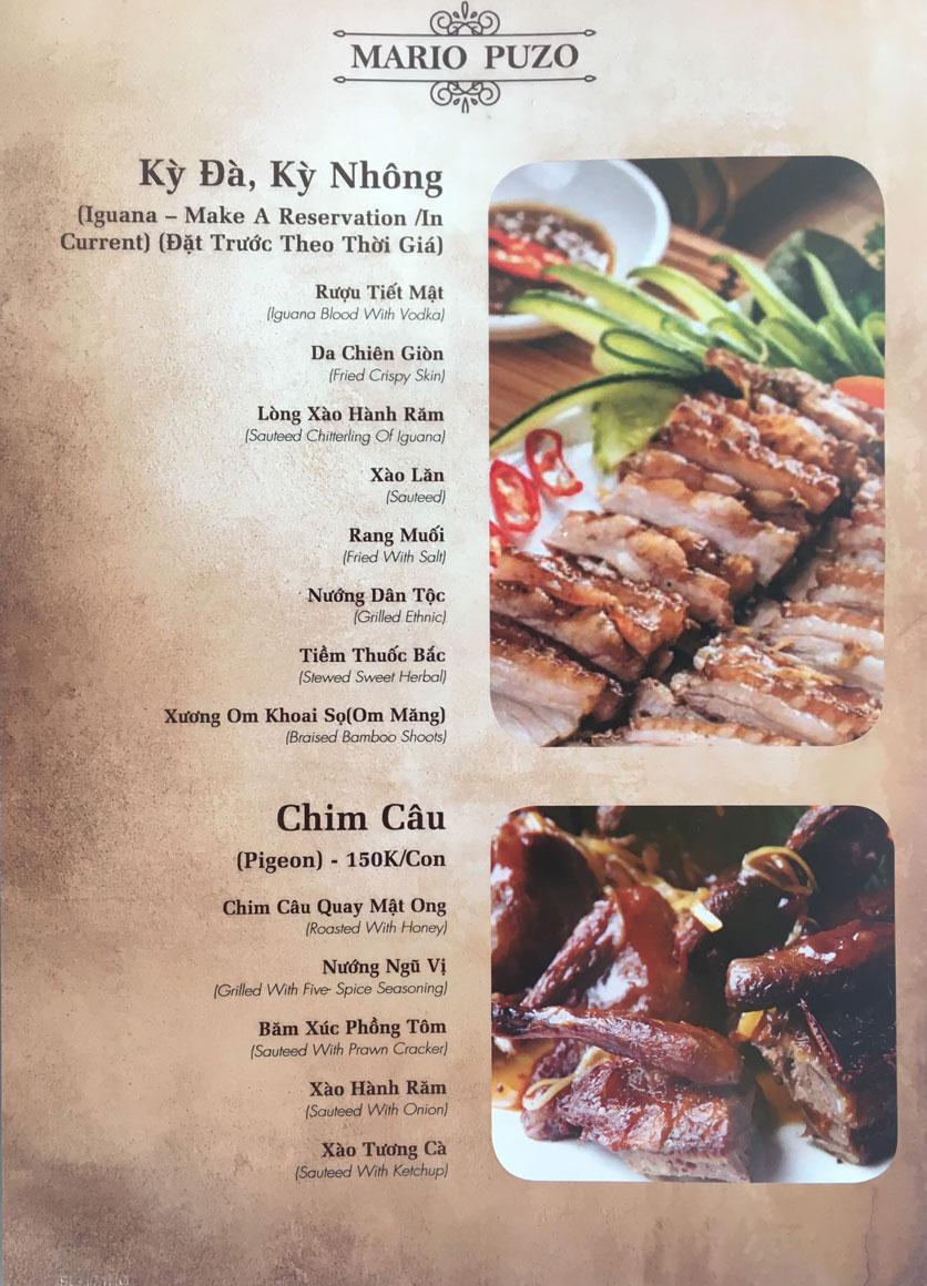 Menu Thùy Trang Restaurant – KBT 5.2 ha Yên Hòa 9