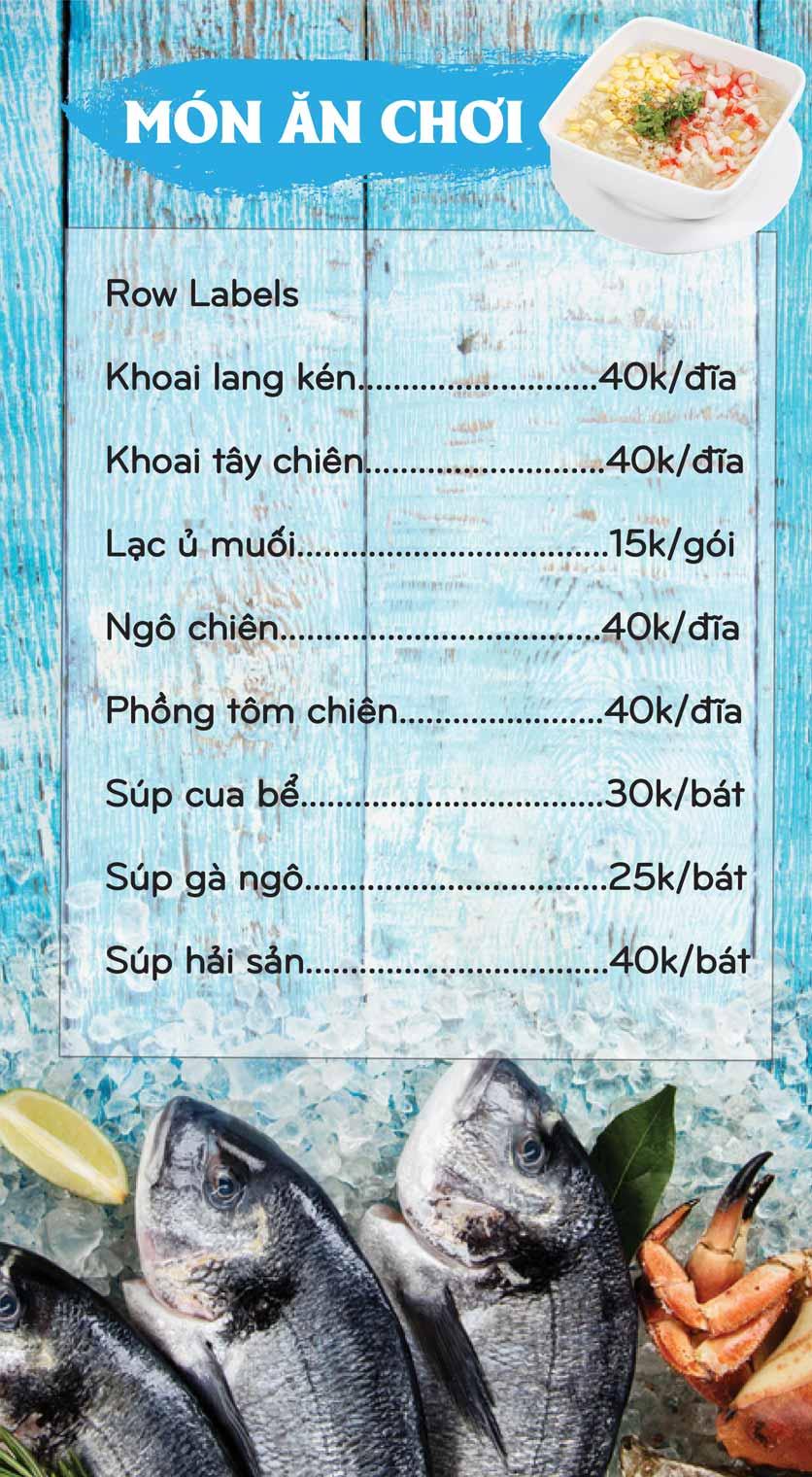 Menu Mê + -  Nguyễn Hoàng 3