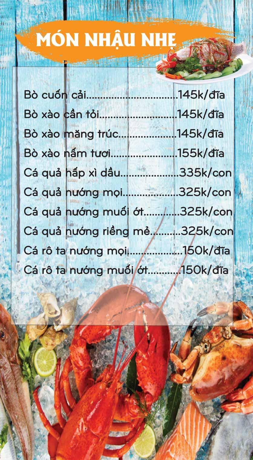 Menu Mê + -  Nguyễn Hoàng 7