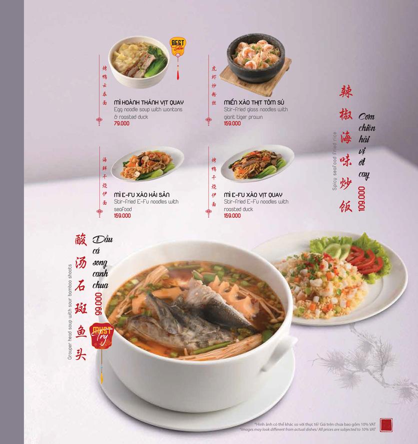 Menu Meiwei - Láng Hạ 16