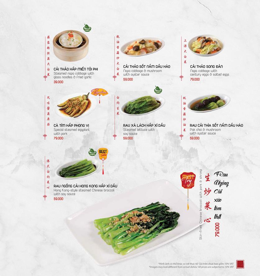 Menu Meiwei - Láng Hạ 18