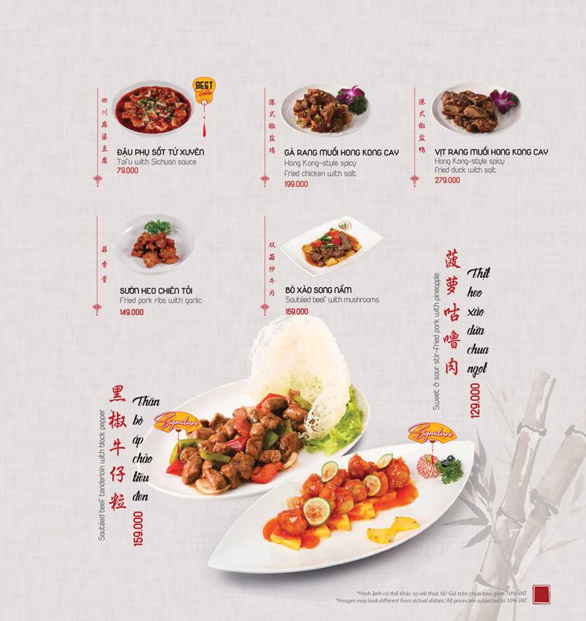 Menu Meiwei - Láng Hạ 20