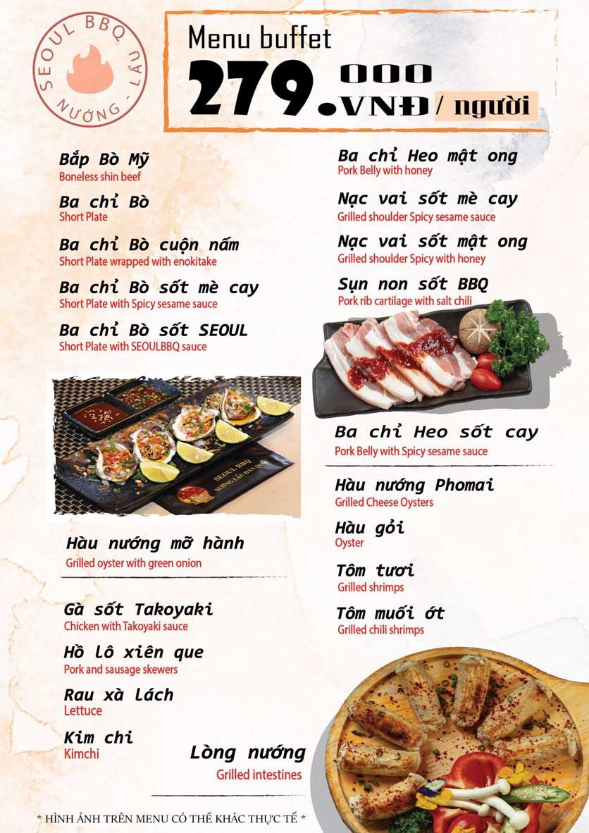 Menu Seoul BBQ - Nguyễn Trường Tộ 3