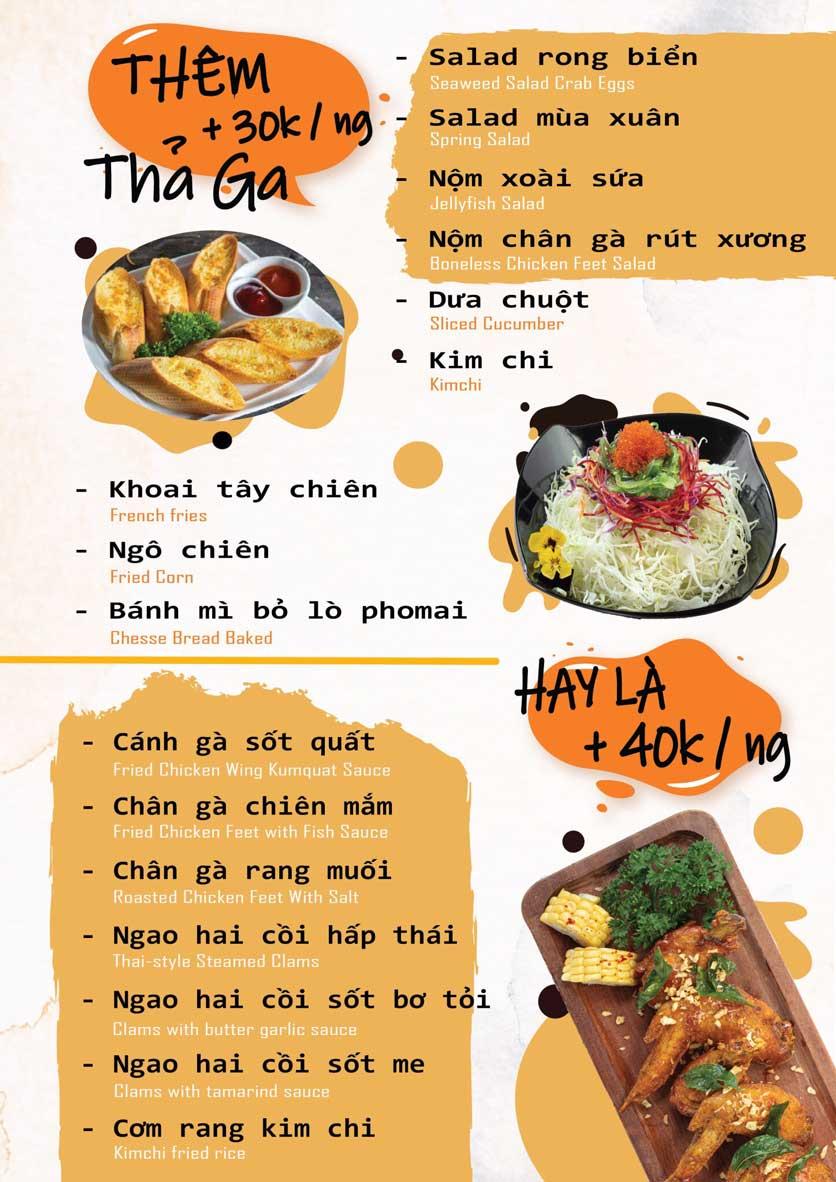 Menu Seoul BBQ - Nguyễn Trường Tộ 4