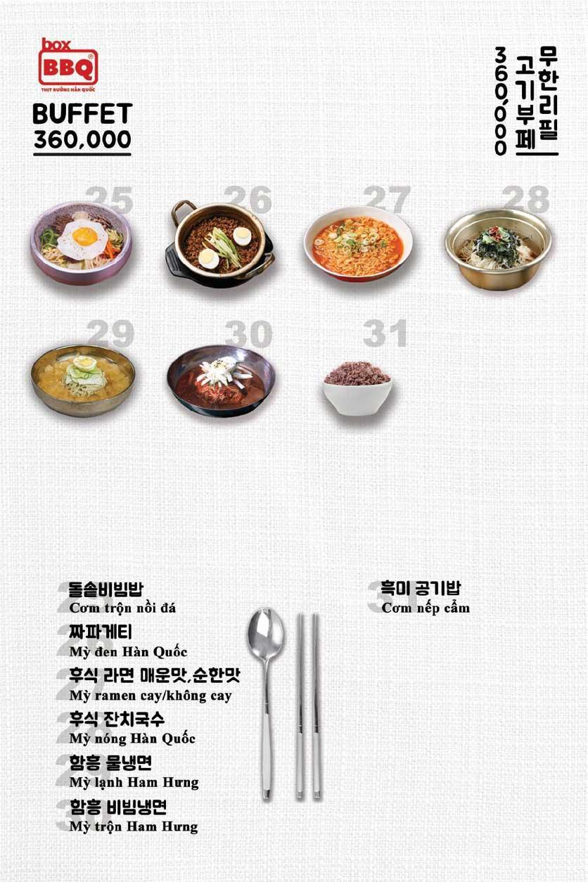 Menu Box BBQ – Nguyễn Thị Thập 5