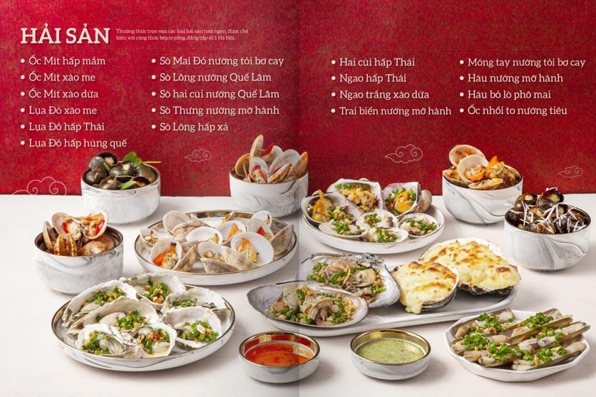 Menu Buffet Hải sản & Dimsum Cửu Vân Long – TTTM Discovery Complex 2