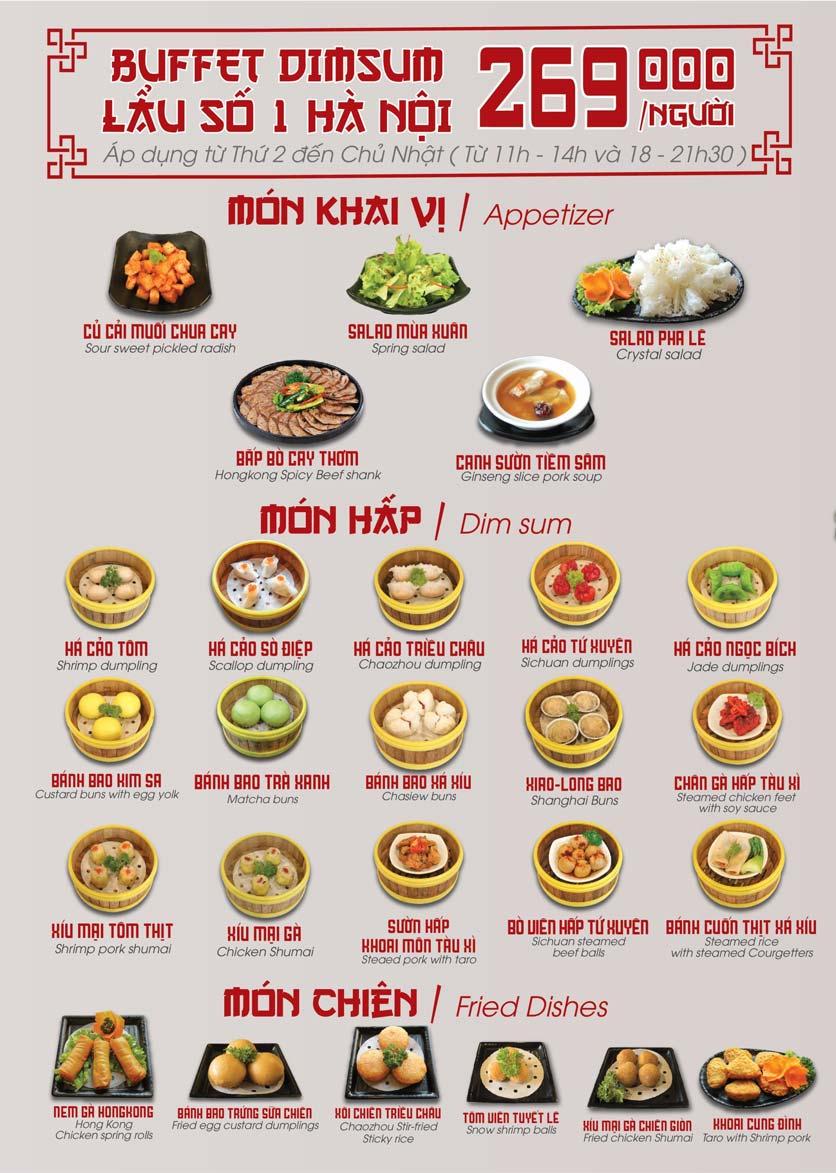 Menu Nhà hàng Dimsum & Lẩu Trung Hoa - FengHuang – Linh Đàm 5