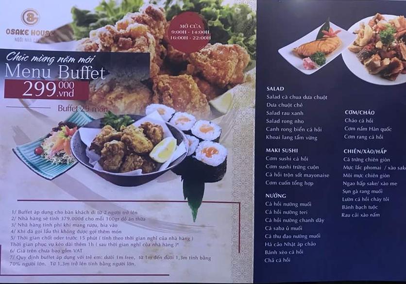 Menu G8 Osake House - Nguyễn Tri Phương 1