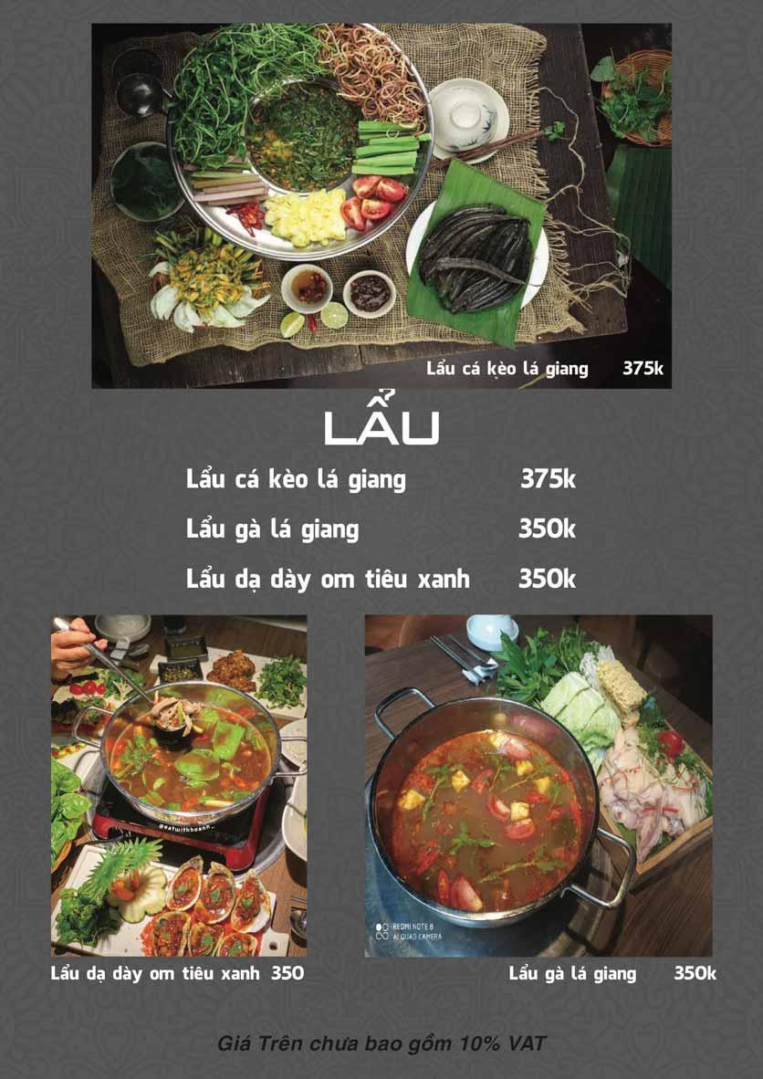 Menu Góc Phố Sài Gòn - Hàng Tre 4