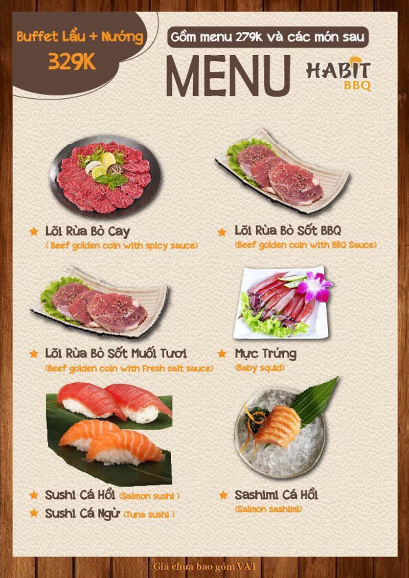 Menu Habit BBQ - Dịch Vọng Hậu 5
