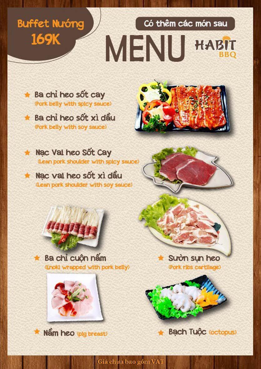 Menu Habit BBQ - Dịch Vọng Hậu 6