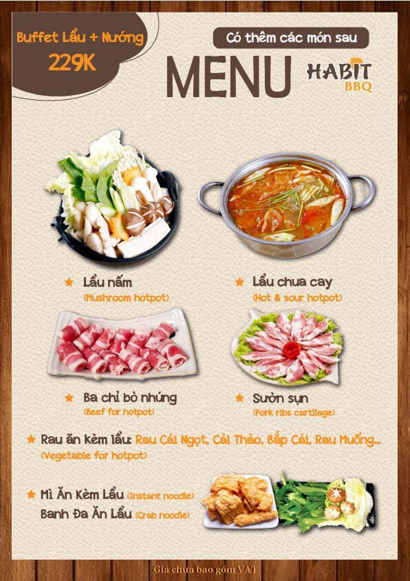 Menu Habit BBQ - Dịch Vọng Hậu 7