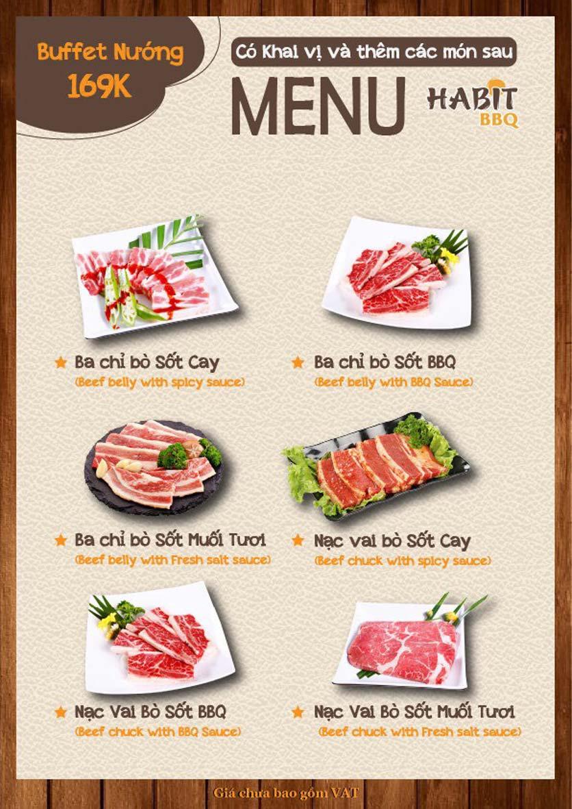 Menu Habit BBQ - Dịch Vọng Hậu 8