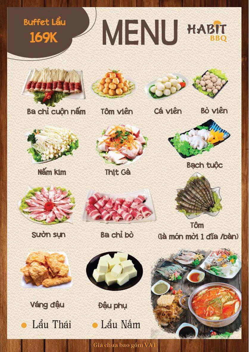 Menu Habit BBQ - Dịch Vọng Hậu 9