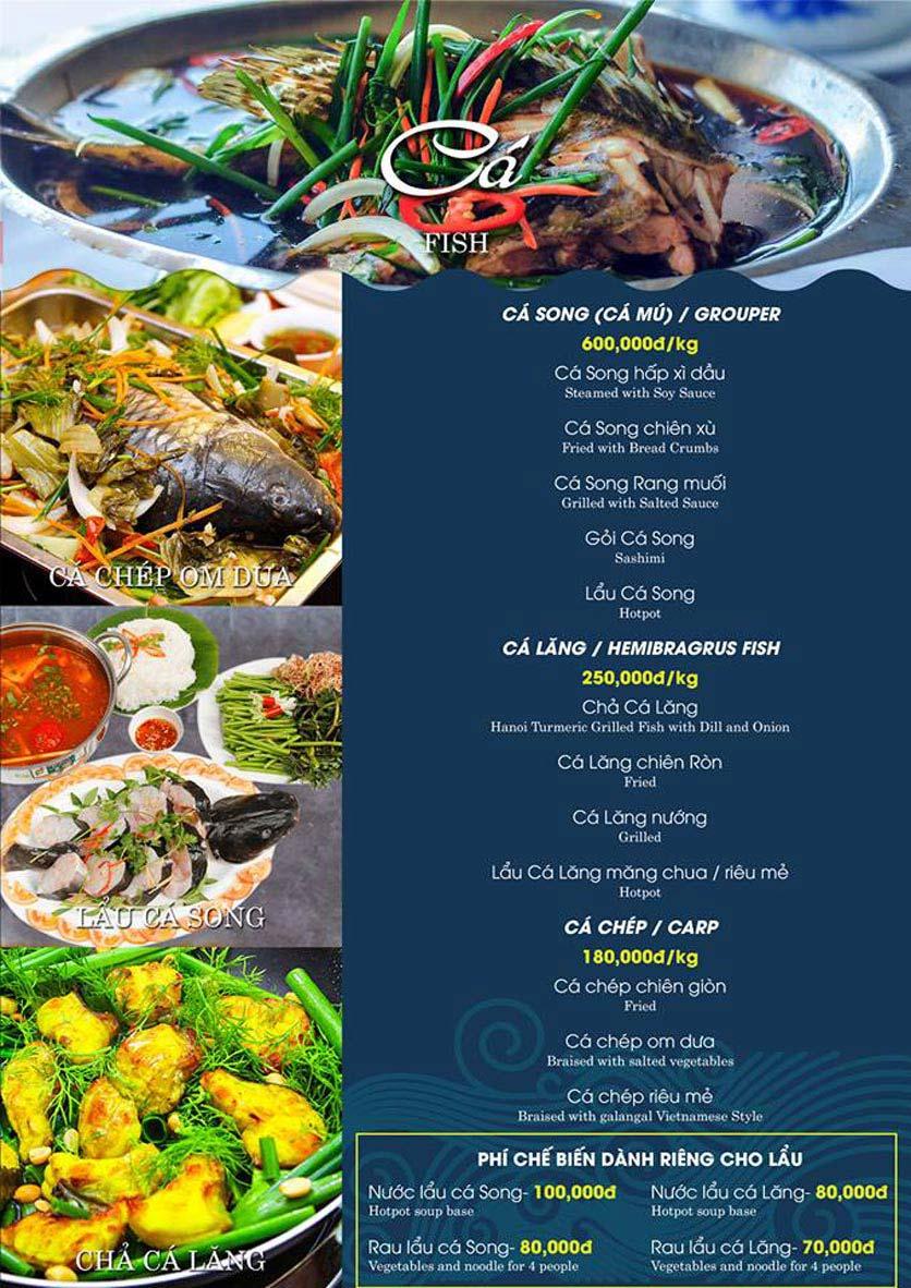 Menu Hải Sản Biển Cua - Nguyễn Khang 2