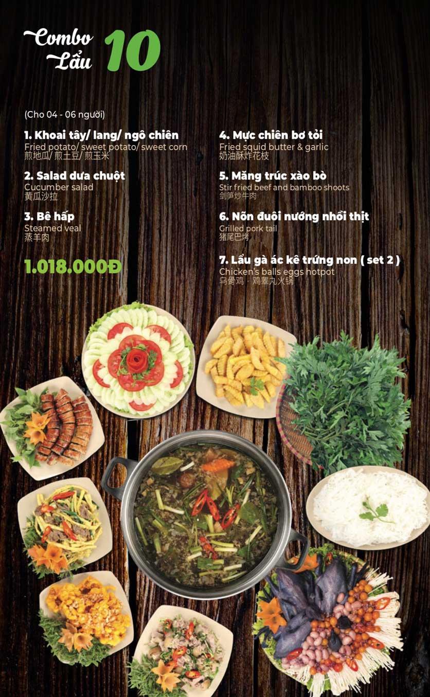 Menu Lẩu Sơn Tùng - Nguyễn Khánh Toàn 12