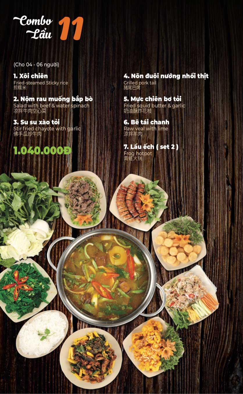 Menu Lẩu Sơn Tùng - Nguyễn Khánh Toàn 13