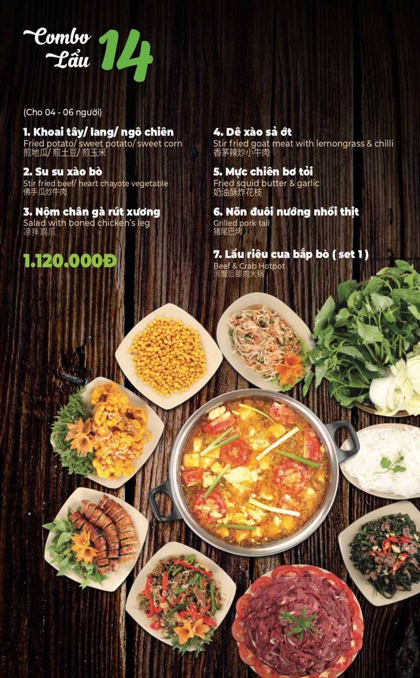 Menu Lẩu Sơn Tùng - Nguyễn Khánh Toàn 16