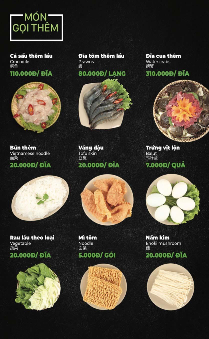 Menu Lẩu Sơn Tùng - Nguyễn Khánh Toàn 37