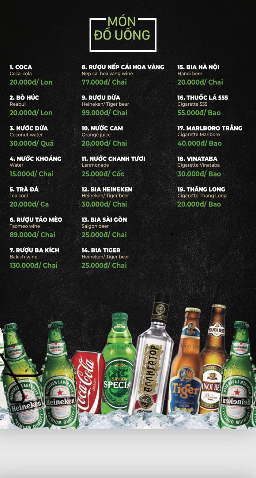 Menu Lẩu Sơn Tùng - Nguyễn Khánh Toàn 40