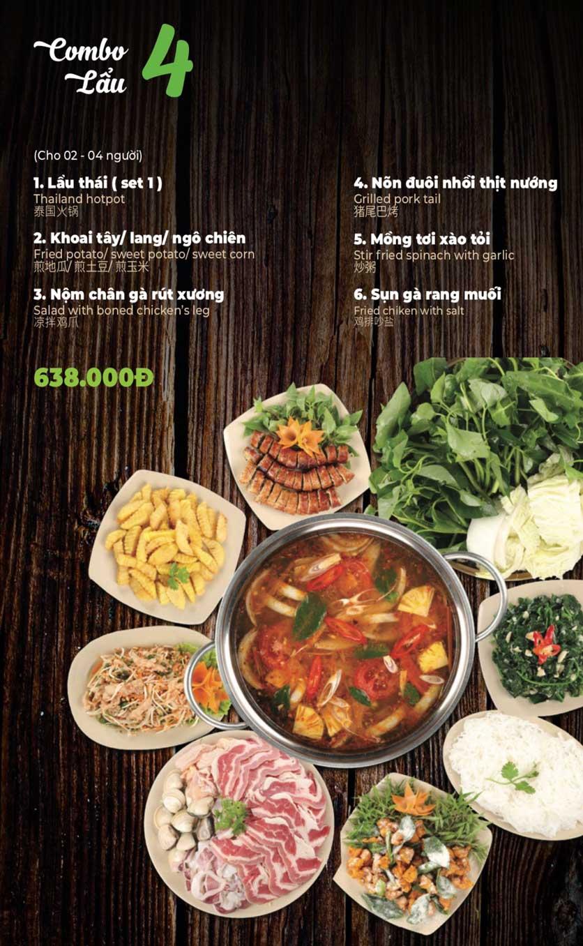 Menu Lẩu Sơn Tùng - Nguyễn Khánh Toàn 6