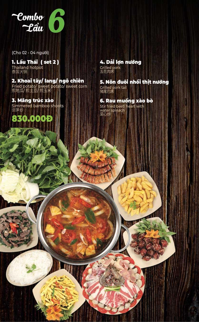 Menu Lẩu Sơn Tùng - Nguyễn Khánh Toàn 8