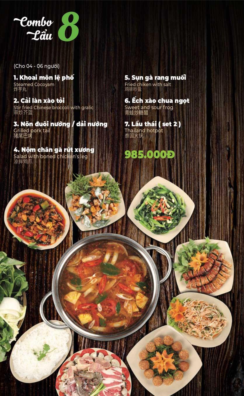 Menu Lẩu Sơn Tùng - Nguyễn Khánh Toàn 10