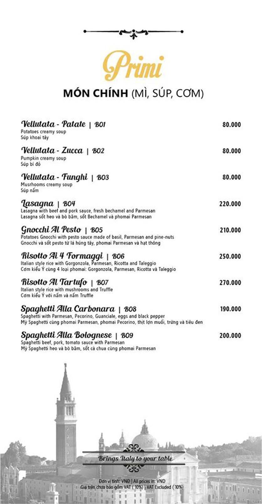 Menu Mamma Mia - Italian Restaurant  3