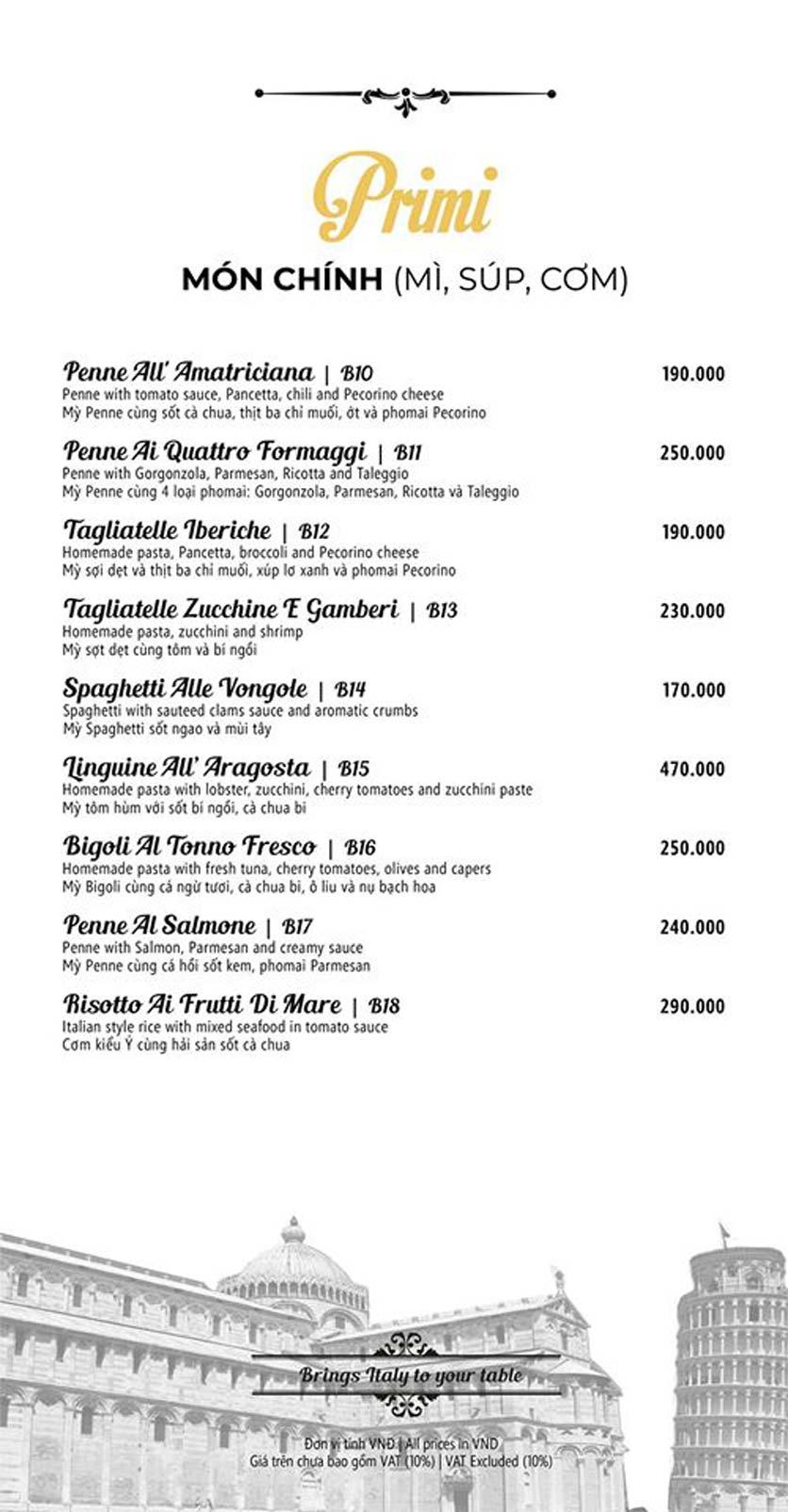 Menu Mamma Mia - Italian Restaurant  4