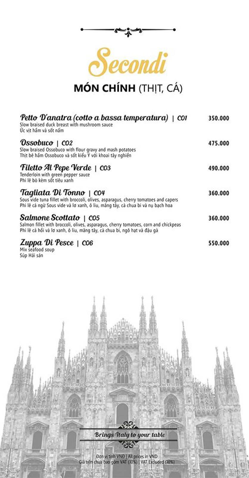 Menu Mamma Mia - Italian Restaurant  5