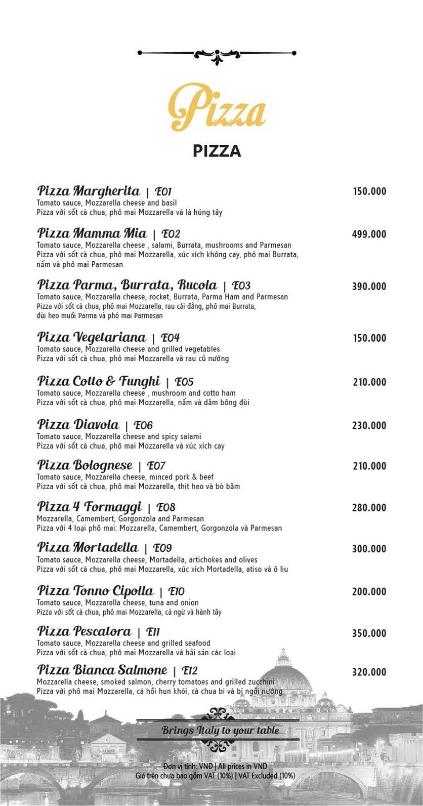 Menu Mamma Mia - Italian Restaurant  6