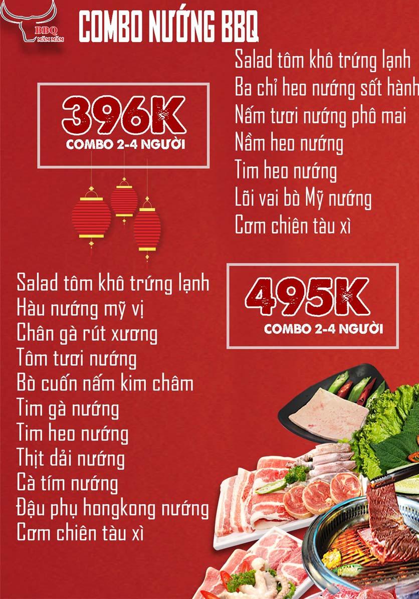 Menu Măm Măm BBQ - Giảng Võ 5