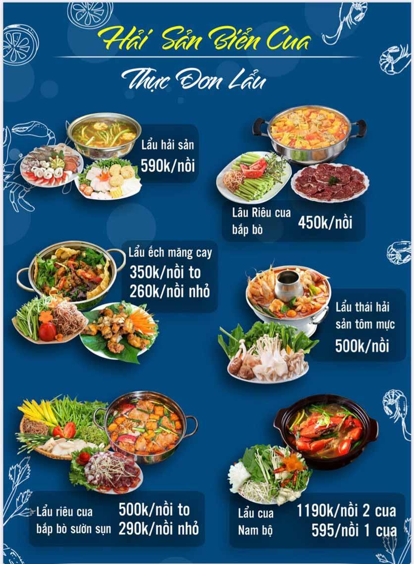 Menu Hải Sản Biển Cua - Nguyễn Khang 1