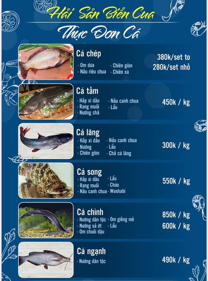 Menu Hải Sản Biển Cua - Nguyễn Khang 3