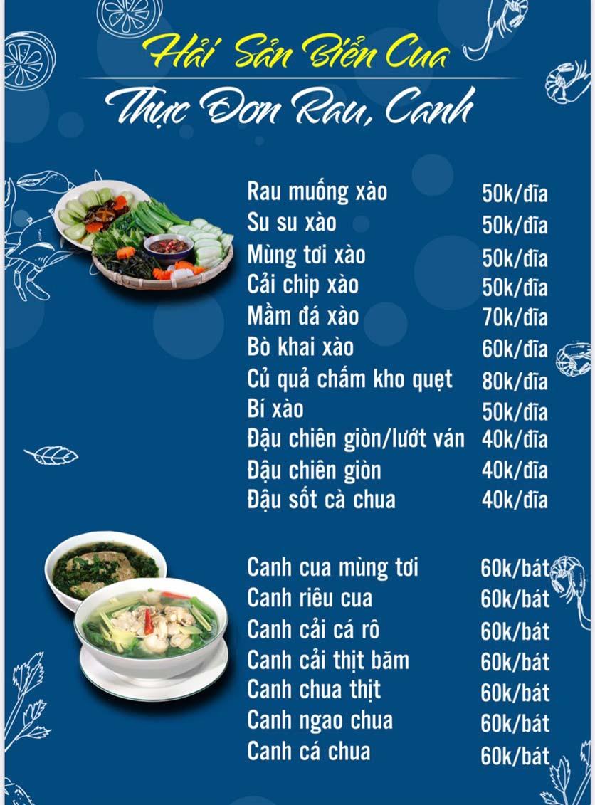 Menu Hải Sản Biển Cua - Nguyễn Khang 6
