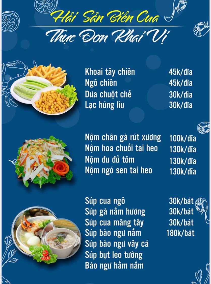Menu Hải Sản Biển Cua - Nguyễn Khang 9